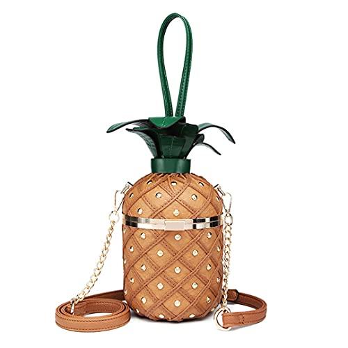 LXFZX Crossbody Handbags & Bolsos para Las Mujeres Bolsas de Asas para Las Mujeres Bolso de Hombro Bolsas Impermeables para niña,Pineapple