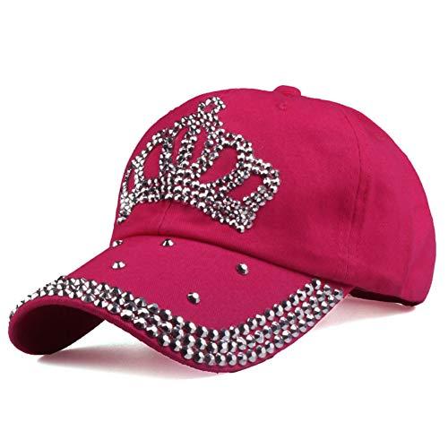 Gorra de Beisbol Gorras De Béisbol Moda para Hombres Y Mujeres Sun Hat Rhinestone Hat Denim Y Algodón Snapback Cap