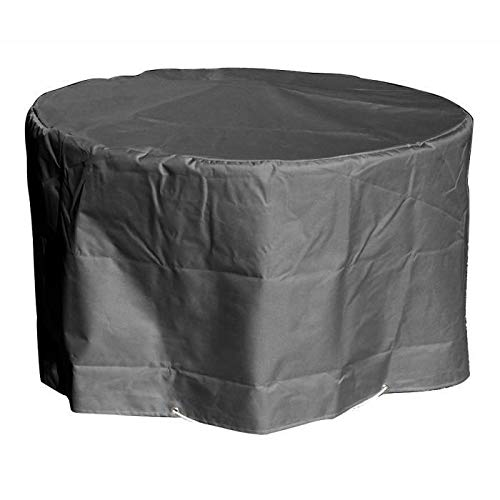 GREEN CLUB Housse de protection pour table ronde - Ø160x65 cm - Anthracite