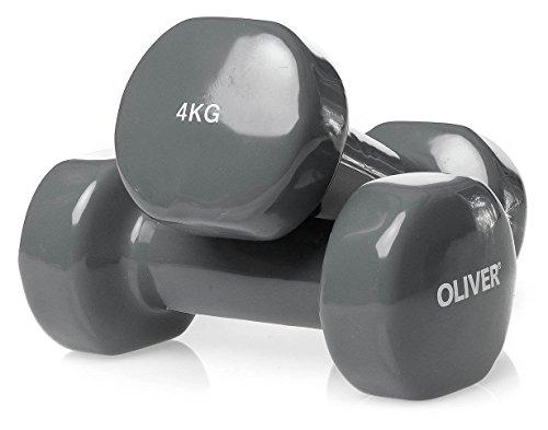 Oliver Vinyl Hantel 2 x 4,0 kg Hantelset Kurzhanteln Fitness Aerobic Training