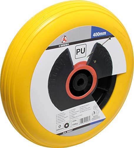 Kraftmann 80657 | Schubkarrenrad | PU, gelb/schwarz | 400 mm