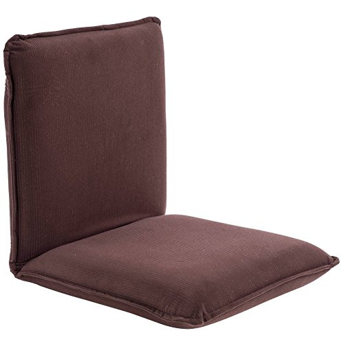 Sundale Outdoor Indoor Adjustable Soft-Brushed Polyester Cord Five-Position Multiangle Floor Chair, 17.5'(L) x 17'(W) x 17.5'(H), Brown