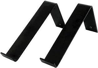 Industriële Plankdragers L-vorm down - 20 cm - Staal - Mat Zwart - Set (20 cm)