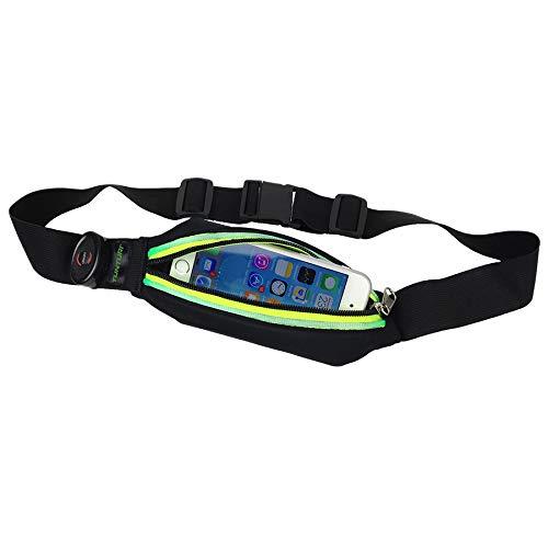 Tunturi Hardloopheuptas - Fitness belt - Runningbelt - Hardloopriem - Hardloopgordel - Hardloopverlichting - Hardloopriem - Hardloop belt - met LED verlichting Rood, Colour:Red
