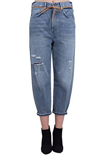 Levi's Made And Crafted Donna Jeans Boyfriend Blu Grigio con Strappi Taglia 24