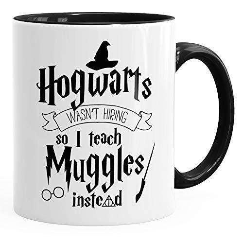 MoonWorks Tasse Hogwarts Wasn't Hiring so I Teach Muggles Instead Kaffeetasse Teetasse Keramiktasse schwarz Unisize