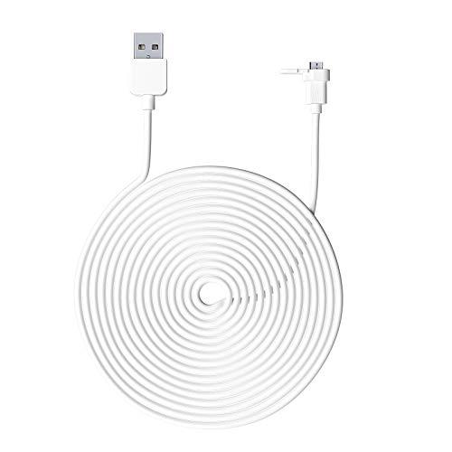 Tooart Cable de alimentación, 9 m / 30 pies Cable de alimentación de Carga Compatible con Wyze CAM Redondo para Interiores/Cable de aleación de Aluminio Cable de Carga/Micro USB