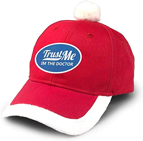 Trust Me Im The Doctor Christmas hat Party Hats Adjustable Santa hat Comfort Double Liner for Adults and Kids