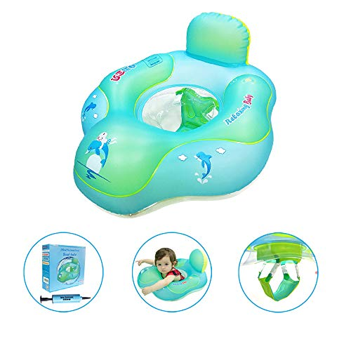 relaxing baby Swimming Baby Floats Ring for Pool Toddler Floaties, Baby Seat Tube Accessories for The Age of 3 Months-6 Years (L, B1017)