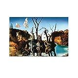 Cuadro artístico de Salvador Dalí Cisnes Un Pintor Surrealista Español Salvador Dalí Cuadro Cuadro Cuadro Cuadro Cuadro Cuadro Cuadro Cuadro Cuadro Moderno Familiar Decoración Pósters 30x45cm