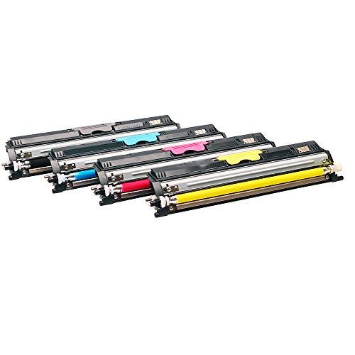 Logic-Seek - Juego de 4 tóneres compatibles con Oki C110 C130 MC160 C130N MC160N