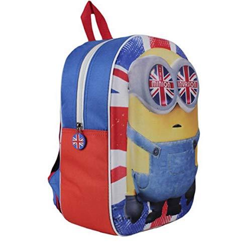 Despicable Me Minions Bob Backpack 3D England Mochila escolar para niños