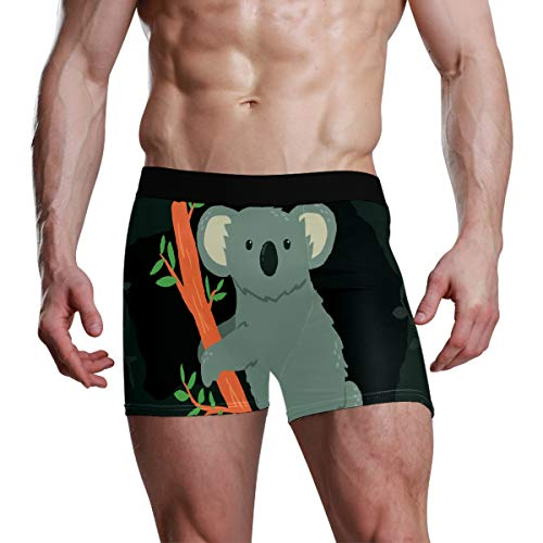 Jereee Herren-Boxershorts mit Koala-Motiv, weich, Polyester, Größe S Gr. M, Mehrfarbig
