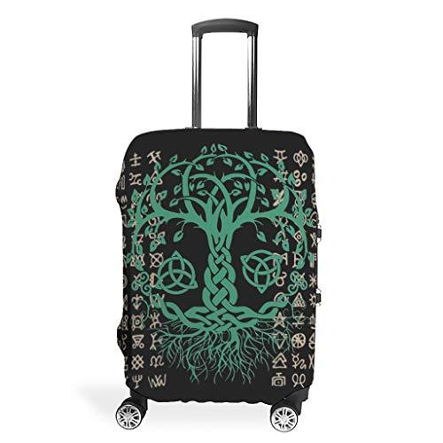 Viking Maleta cubierta reutilizable evita rozaduras se adapta a 18 – 32 pulgadas para maleta con ruedas sobre lados blandos, blanco (Blanco) - Xuanwuyi5462