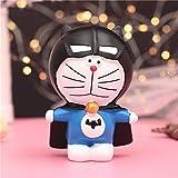 HIL Encantador Doraemon Caja De Dinero Hucha De Resina Caja De Almacenaje Banco De Monedas Decoración De La Habitación De Los Niños Decoración De Escritorio Regalo De Cumpleaños, C