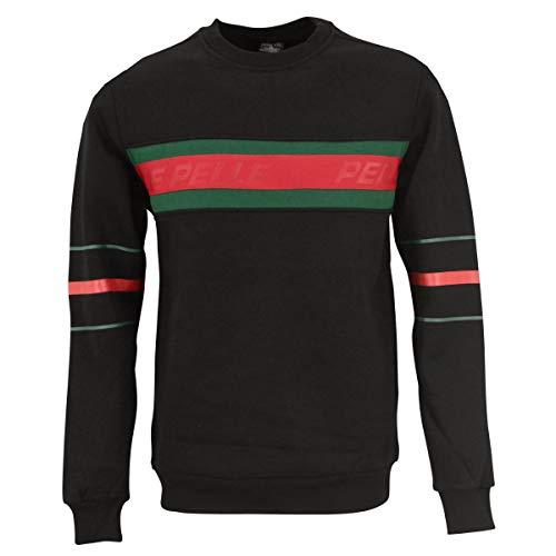 Pelle Pelle Herren Sweatshirt Front 2 Back schwarz - M