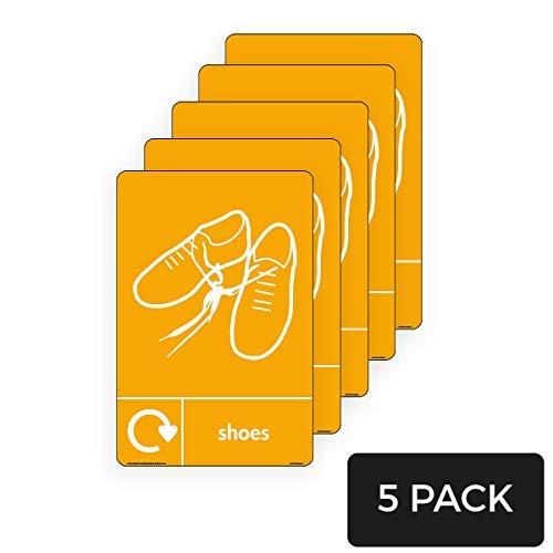 WRAP - Pegatinas de vinilo para cartel de zapatos de reciclaje con logotipo y logotipo, 200 mm x 300 mm