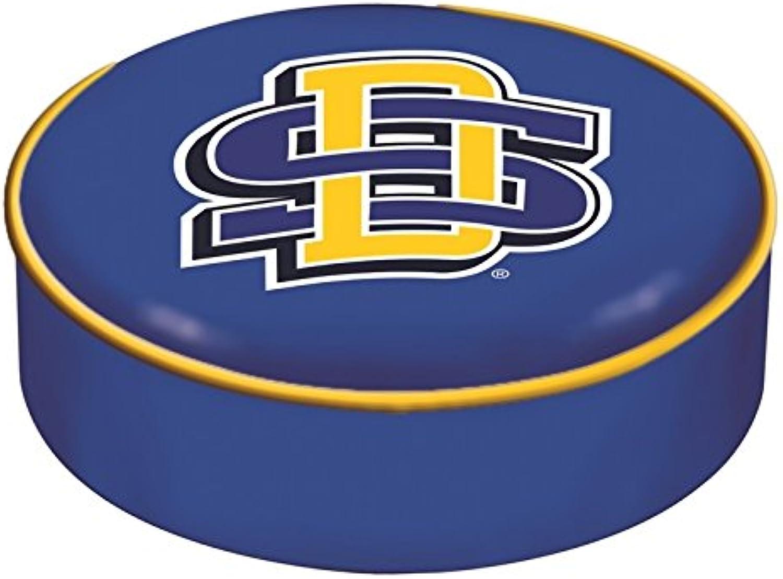 South Dakota State Jackrabbits HBS bluee Slip Over Bar Stool Seat Cushion Cover