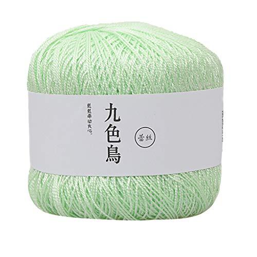 DIY Wolle 60g Gewebte Reine Baumwolle Mercerisierte Baby feine Baumwolle Faden Häkelwolle Feiner Baumwollfaden Häkelgarn Mützen, Stirnbänder und Schals Warm für den Winter Geschenke