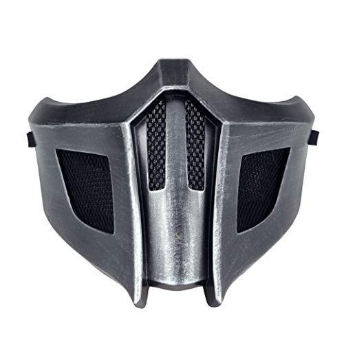 Mortal Kombat Game Mask, Jade/Sub-Zero/Kabal/Saibot/Scorpion/Smoke Resin Mask For Halloween Costume Accessory (saibot Mortal Kombat 9)