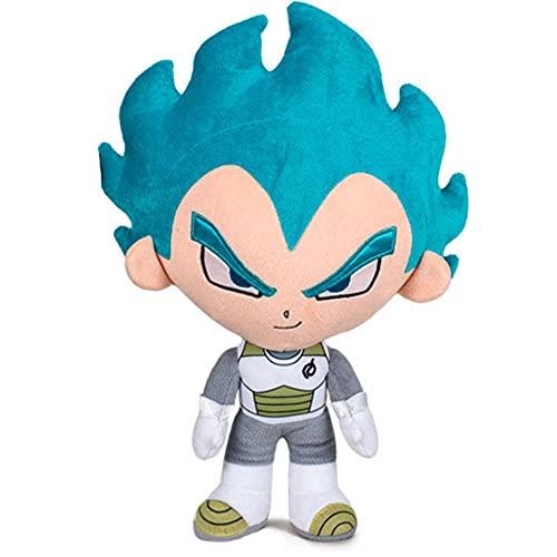 Peluche Vegeta Super Saiyan Pelo Azul Dragon Ball 31cm