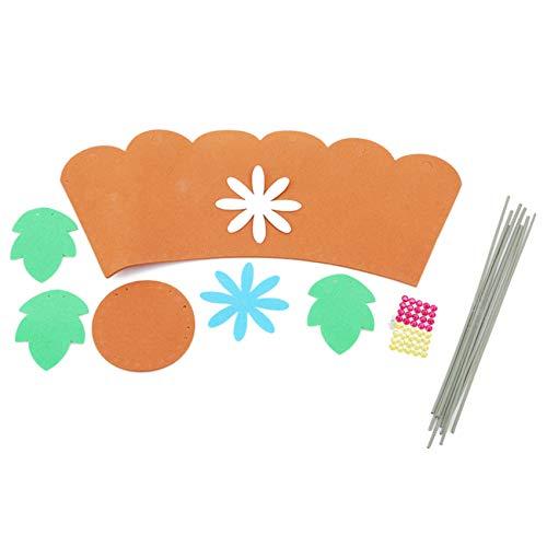 unknow Zoomne Daisy Flower - Paquete de materiales para manualidades, diseño de flores de primavera, adornos de costura