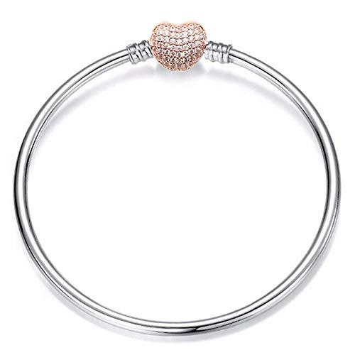 YUNLAN Pulsera de Cristal y Pulsera en Forma de corazón Pulsera de Bricolaje Femenino Pulsera de Moda Femenina Pulsera Decorativa Pulsera (Color : A, Size : 21cm)