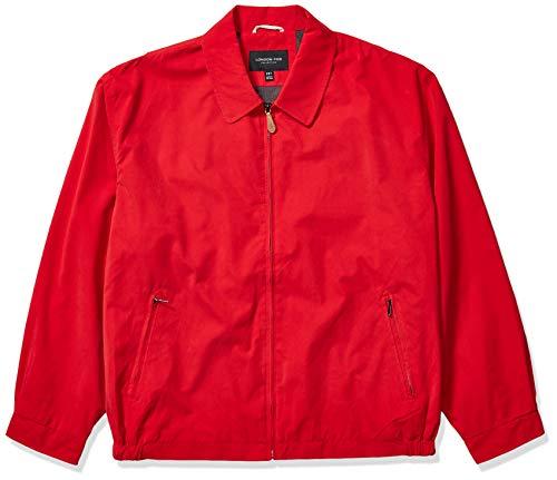 London Fog Men's Auburn Zip-Front Golf Jacket (Regular & Big-Tall Sizes), True Red, Medium