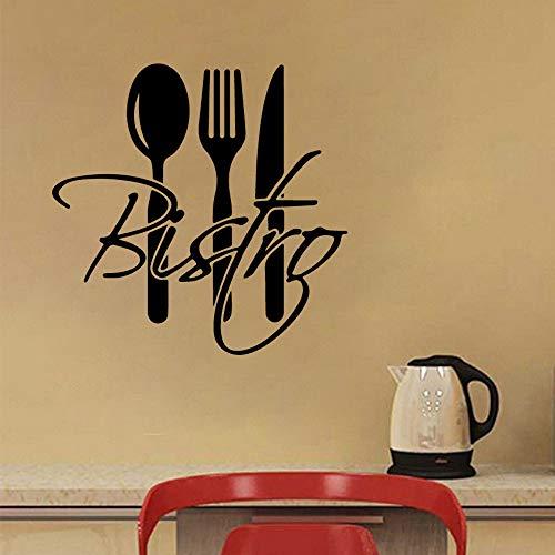 JXFM zelfklevende muurstickers van PVC voor de keuken, afneembaar, messen en vork om zelf te maken