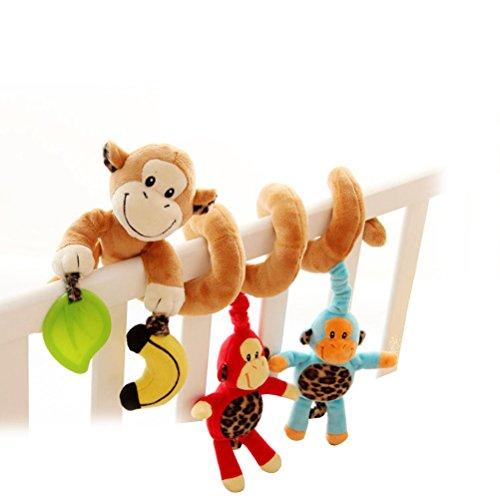 Yeahibaby Mono lindo diseño infantiles bebé actividad espiral cama cochecito juguete coche asiento actividad juguete de 0 a 36 meses