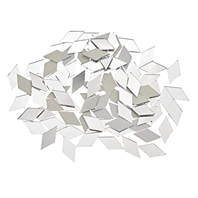 """200pcs 1/2"""" Triangle Mirror Mosaic Tile,Triangular Real Glass Mirror DIY Crafts Accessory Mosaic Tiles for Crafts (Color : Silver Mirror)"""