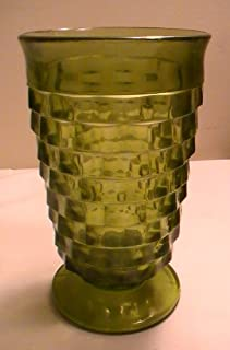 Vintage Indiana Whitehall Green Glass - One (1) Glass