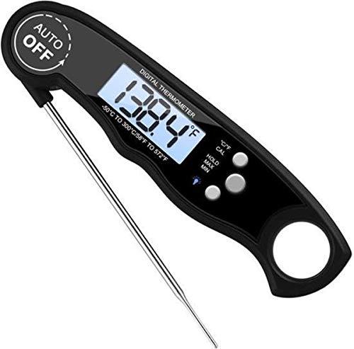 Brauch Digitales Thermometer für Küche, Kochen, Lebensmittelmilch, Fleisch, Ofen, Grill, Wasser, Tee drinnen und draußen, wasserdicht, Edelstahl, ultraschnell