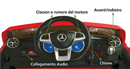 RC Auto kaufen Kinderauto Bild 3: Jamara 460294 Ride-on Mercedes SL65 rot 12V-Softanlauf, 2-Gang, Stoßdämpfer, SD-Slot, AUX-und USB-Anschluss, LED, Hupe, bis zu 90 Min. Fahrzeit, Ultra-Gripp Gummiring*