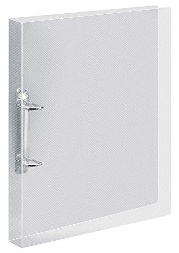 Veloflex 4138290 Ringbuch Crystal A4, Ordner, Hefter, Ringordner, kratzunempfindlich, PP, transparent