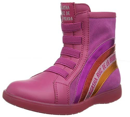 Agatha Ruiz De La Prada Mädchen 191933 Kurzschaft Stiefel, Pink ((Sauvage) B), 31 EU