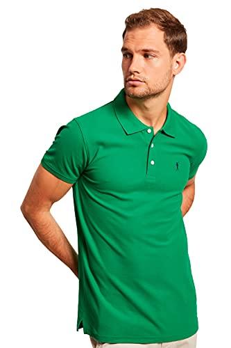Polo Piqué Verde Tropical para Hombre