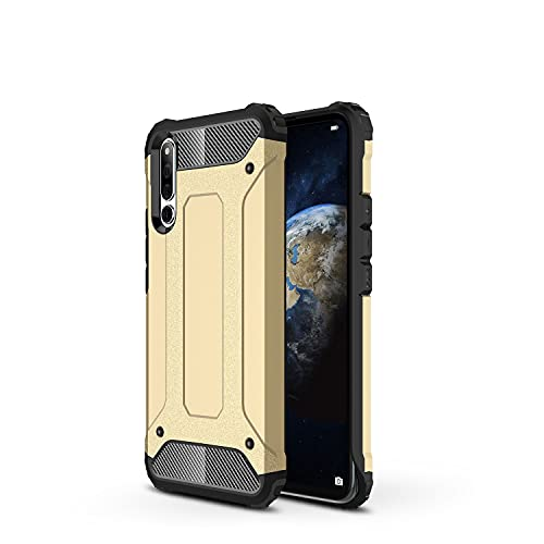 ZHIWEI Das tragbare Handy Tasche Schutzhülle für Huawei Honor Magic 2 Hülle, TPU + PC Stoßfänger Dual Layer Stoßdämpfe Hybridschutz Robustes Fall (Color : Gold)
