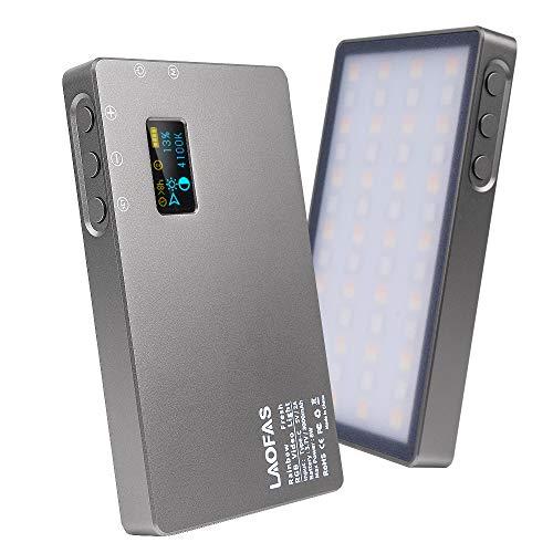 LAOFAS Rainbow Fresh RGB LEDビデオライト 超薄型 超軽量 コンパクト 撮影ライト 高演色性 アルミ合金ボデ...