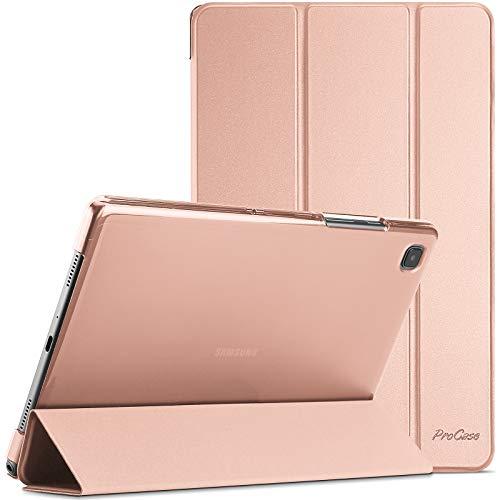 ProCase Funda para Galaxy Tab A7 10.4' 2020 T500 T505 T507, Carcasa Delgada con Posterior Translúcido para Tableta Galaxy Tab A7 10.4 Inch SM-T500/T505/T505N/T507 Versión 2020 - Oro Rosa
