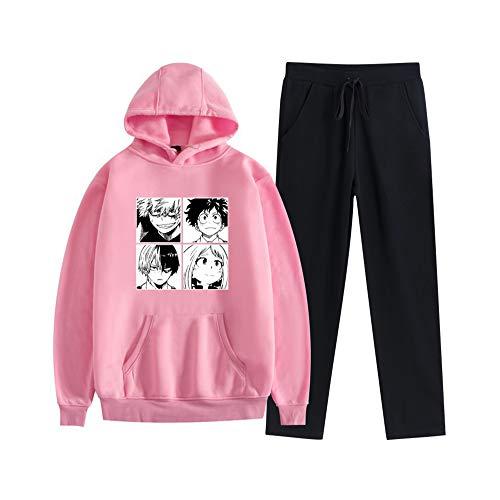 MLX-BUMU Naruto Sudadera con Capucha Pantalón De Chándal Traje Jersey + Pantalón Conjunto Ropa Unisex,XXL