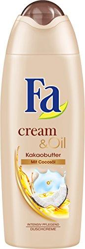 Fa Cream und Oil Kakaobutter und Cocosöl, 4er Pack (4 x 250 ml)