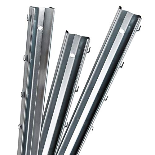 Aquagart Z-Profil Zaunpfosten 2,30 m verzinkt I 15 Stück Metallzaunpfosten aus Bandstahl 1,25mm stark I hochwertige Zaunpfähle für Wildzaun Weidezaun Drahtzaun Wildschutzzaun Knotengeflecht Zaun