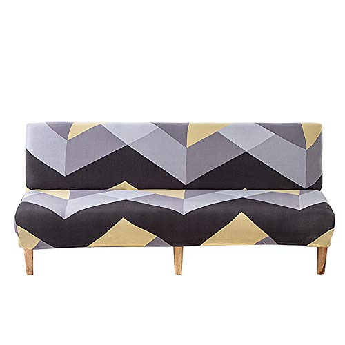C/N Funda de sofá sin Brazos Fundas sofá Clic clac elástica futón Funda de sofá Cama 2 plazas 3 plazas Funda de sofá Cama sin Reposabrazos