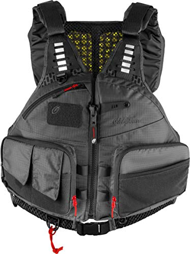Old Town Lure Angler Men's Life Jacket (Gray, L/XL)