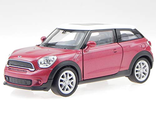 Welly Mini Cooper S Paceman rot Dach Weiss Modellauto 43685 1:34