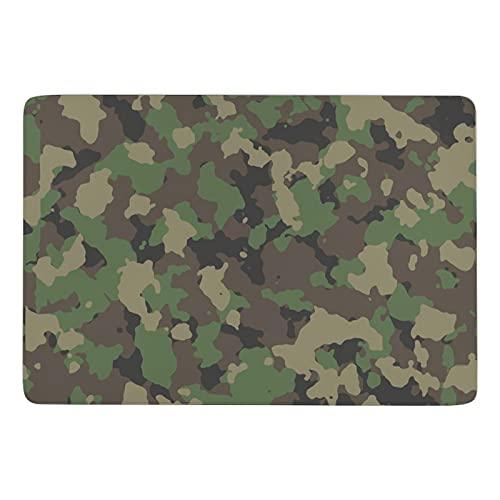 No se desprenden manchas resistente a las manchas de la sala de estar dormitorio alfombra Woodland Camo patrón cartera