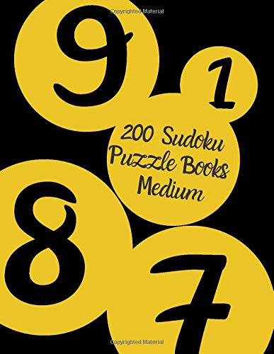 200 Sudoku Puzzle Books Medium: Brain Games for Adults - Logic Games For Adults