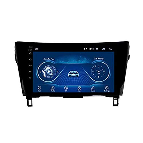 Navigatore per lettore stereo MP5 Android 8.1 MP5 per autoradio da 10,1 pollici per NISSAN X-TRAIL QASHQAI (2013-2018), GPS 2.5D Touch Screen, Wifi, BT, Mirror Link, Sintonizzatore radio (1G + 16G)