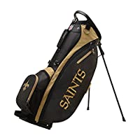 Wilson 2018 NFL Carry Golf Bag, New Orleans Saints, Black/Gold